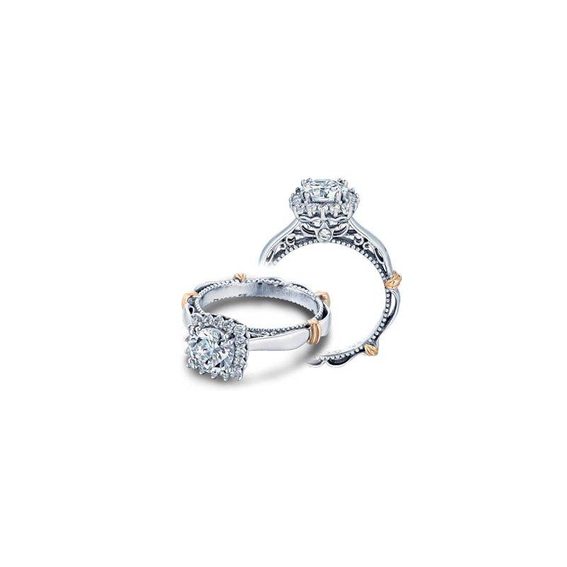 Verragio Verragio Parisian-118CU - 14k White and Rose Gold Diamond Halo Engagement Ring by Verragio