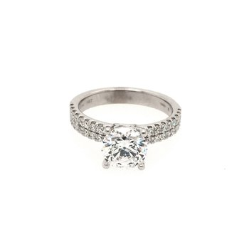 Ritani 1RZ1324 Double Row French Pave' Diamond Engagement Ring