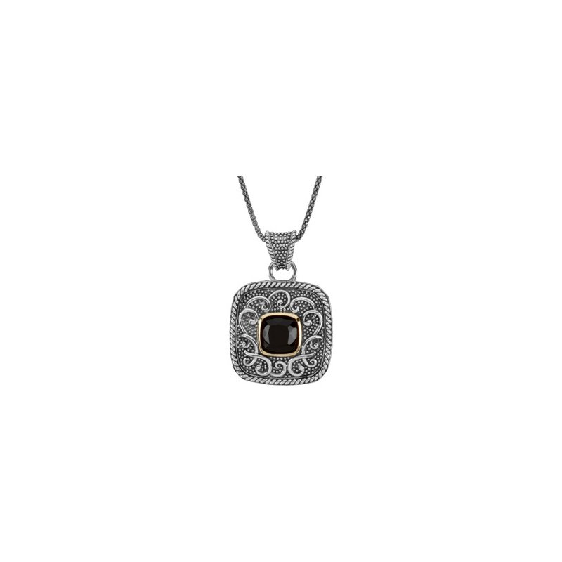 Signature Collection Genuine Onyx Necklace
