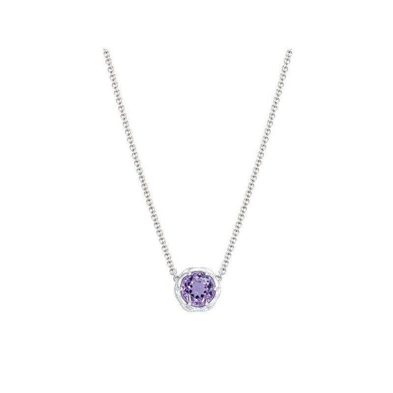Tacori Crescent Station Necklace featuring Amethyst