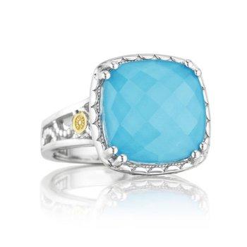 Tacori Crescent Ceiling Ring featuring Neo-Turquoise