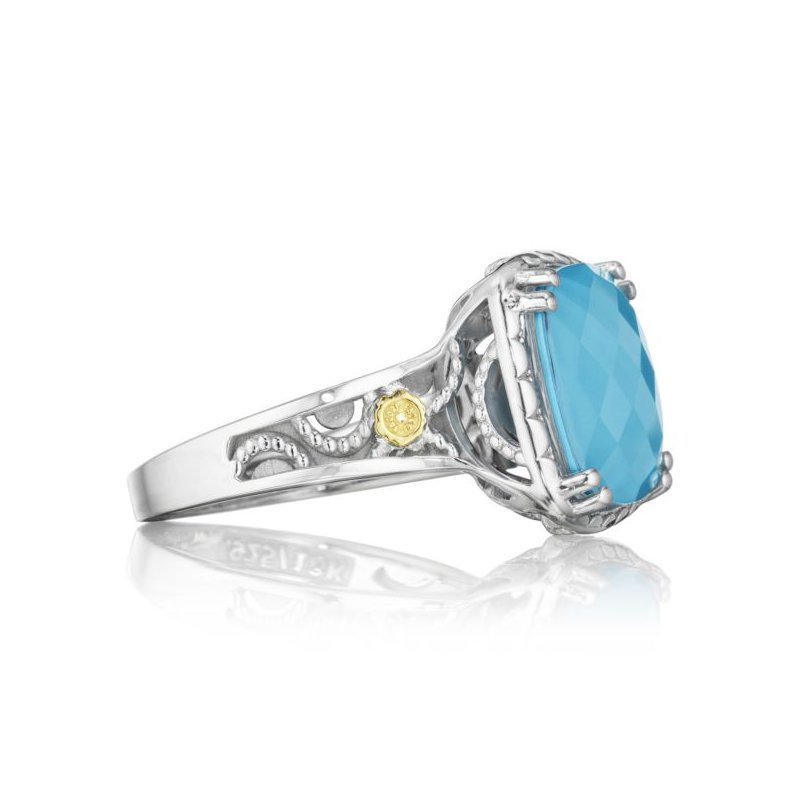 CLEARANCE Tacori Crescent Ceiling Ring featuring Neo-Turquoise