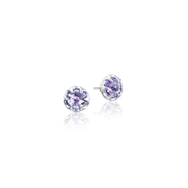 Tacori Petite Crescent Bezel Earrings featuring Amethyst
