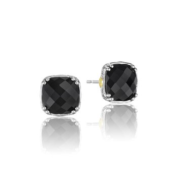 Cushion Cut Gem Stud featuring Black Onyx