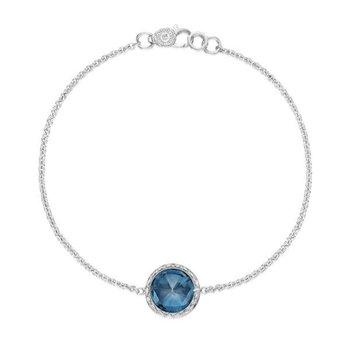 Tacori Floating Bezel Bracelet featuring London Blue Topaz
