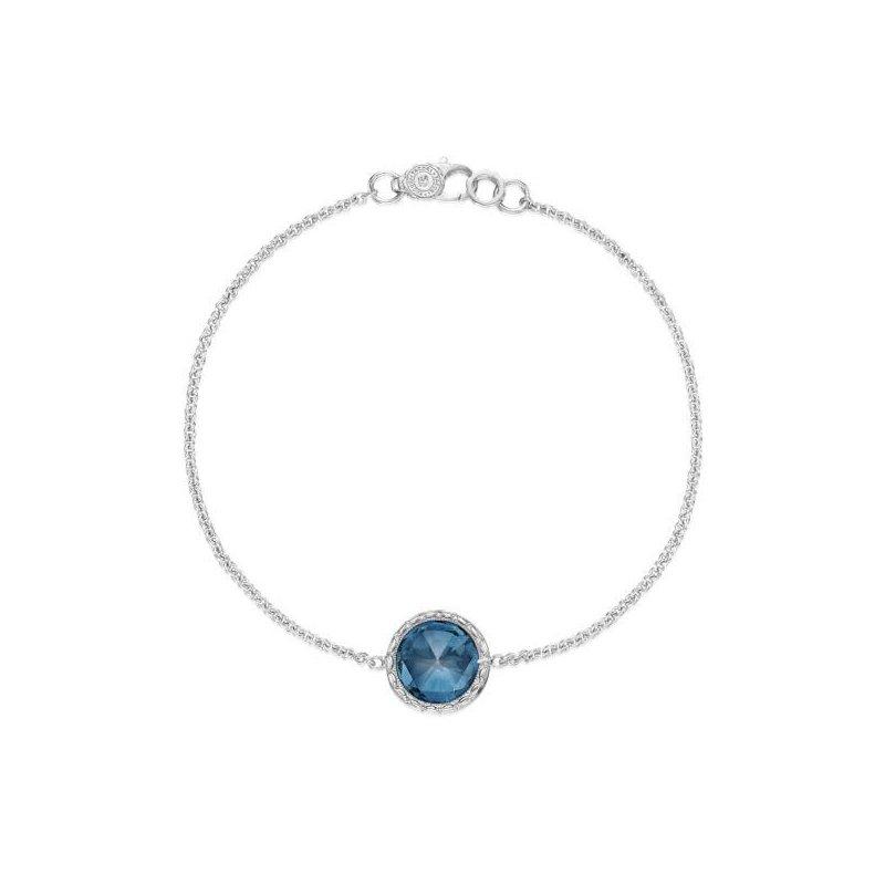 CLEARANCE Tacori Floating Bezel Bracelet featuring London Blue Topaz