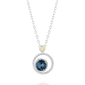 Bold Bloom Necklace featuring London Blue Topaz