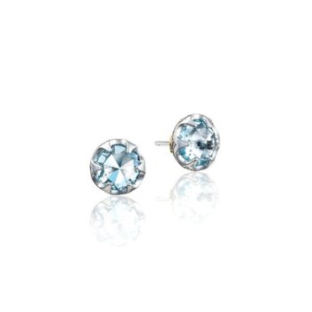 Tacori Petite Crescent Bezel Earrings featuring Sky Blue Topaz