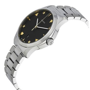 Gucci G-Timeless Black Dial 38mm Ladies Watch