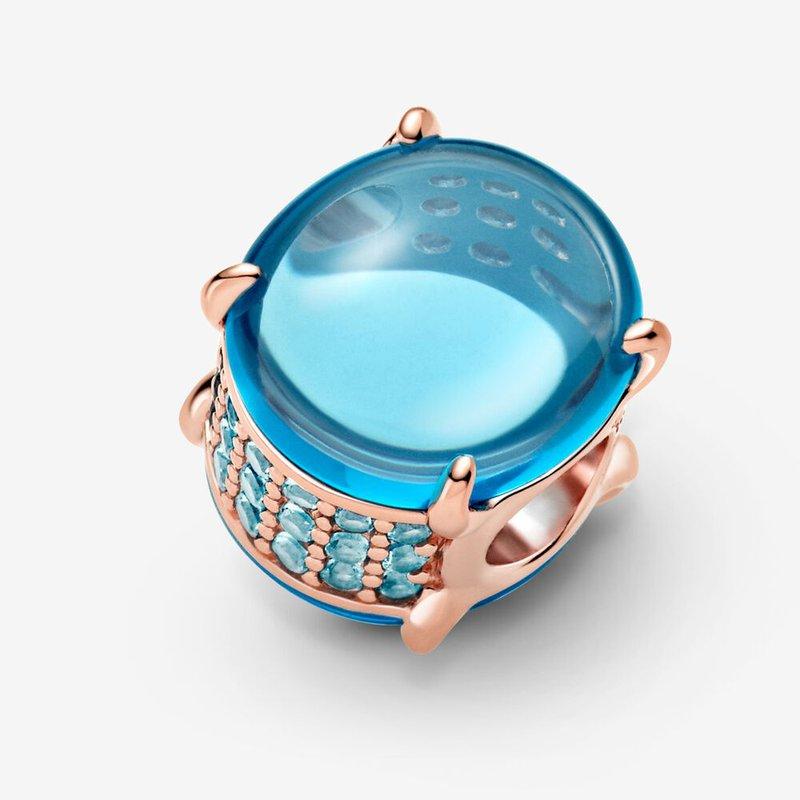 Pandora Blue Oval Cabochon Charm