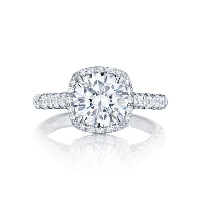 CLEARANCE Tacori Blooming Beauty Round White Gold Engagement Ring