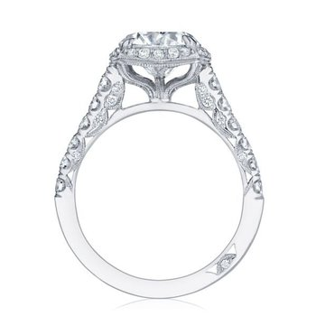 Tacori Blooming Beauty Round White Gold Engagement Ring
