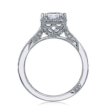 Dantela Princess Cut Platinum Engagement Ring