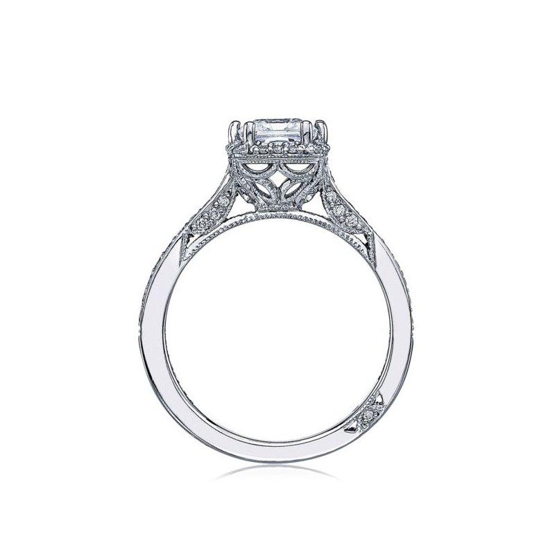 Tacori Dantela Princess Cut Platinum Engagement Ring