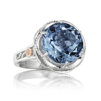 Tacori Crescent Gem Ring featuring London Blue Topaz