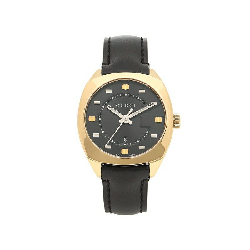 CLEARANCE Gucci Black and Gold PVD Watch 36mm