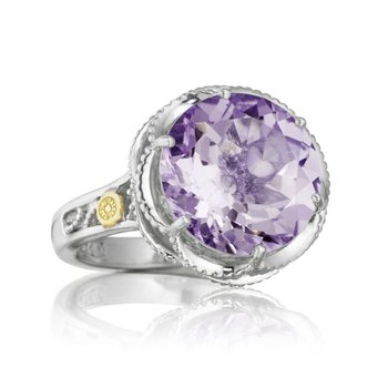 Crescent Gem Ring featuring Amethyst