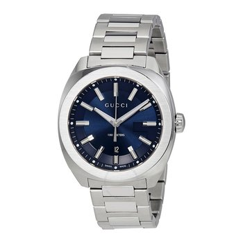 Blue Dial Stainless Steel Cushion Gucci Watch