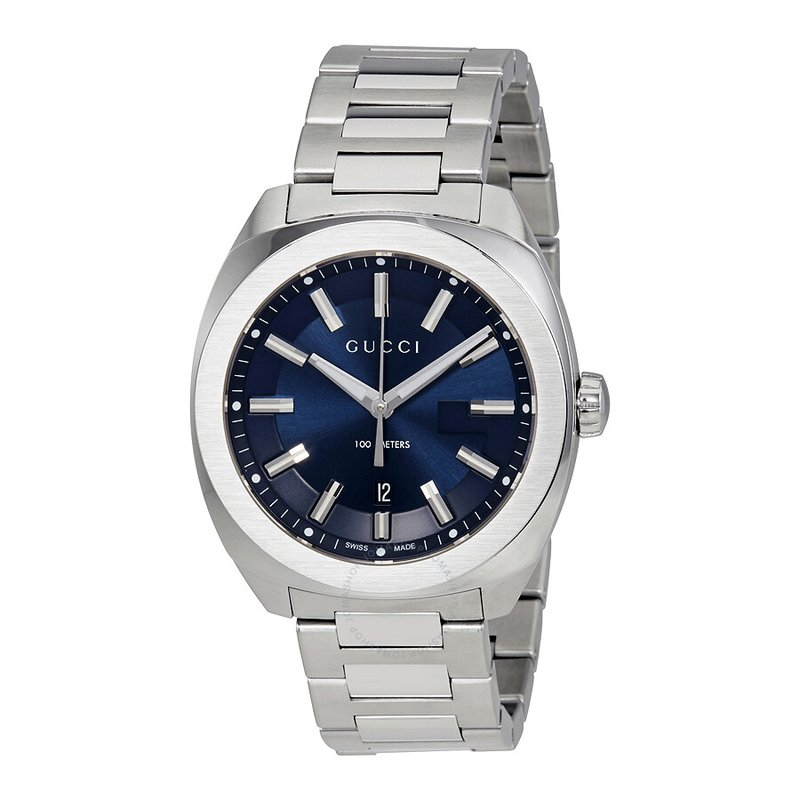 CLEARANCE Blue Dial Stainless Steel Cushion Gucci Watch