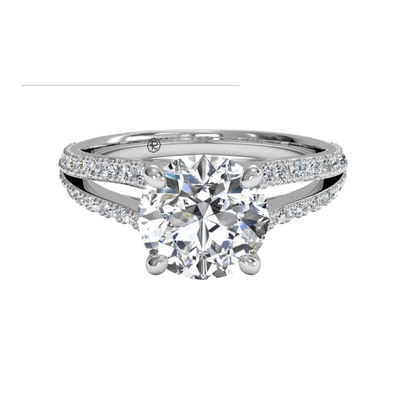 Ritani Clearance Double French-set Diamond 'V' Engagement Ring With Surprise Diamonds