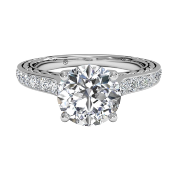 Micropavé Braided Diamond Band Engagement Ring