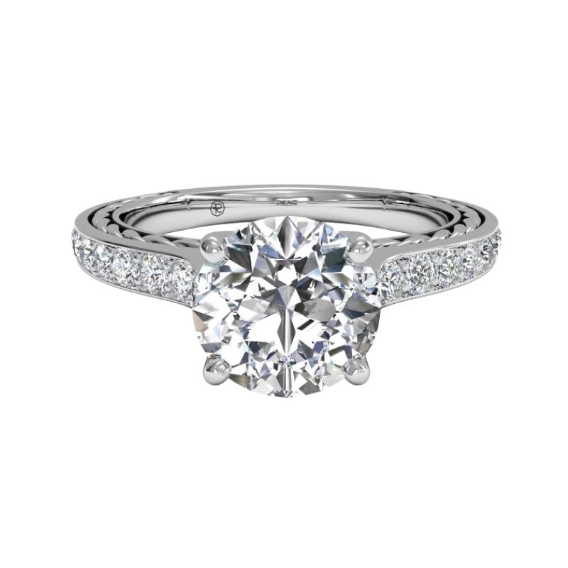 Ritani Clearance Micropavé Braided Diamond Band Engagement Ring