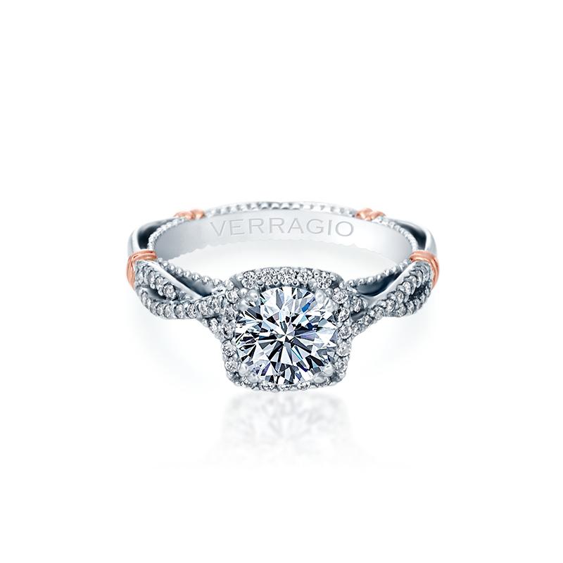 Verragio PARISIAN-106CU White Gold Engagement Ring