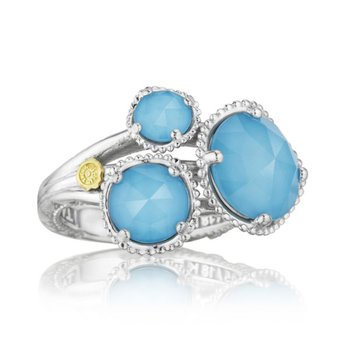 Budding Brilliance Ring featuring Neo-Turquoise
