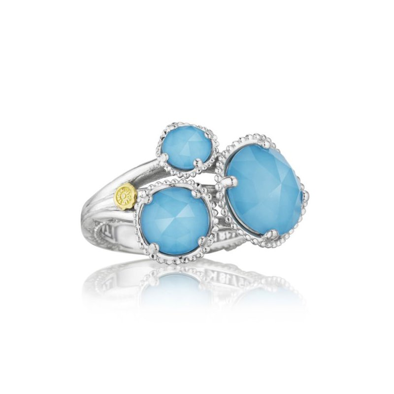 CLEARANCE Tacori Budding Brilliance Ring featuring Neo-Turquoise