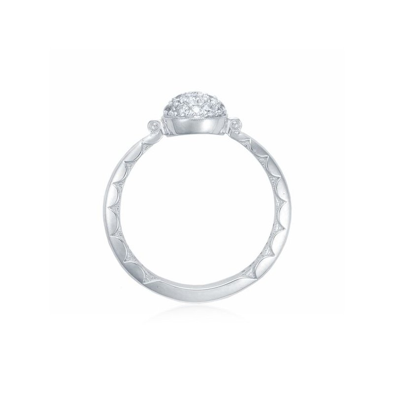 CLEARANCE Tacori Petite Pavé Dew Drop Ring in Silver with diamonds