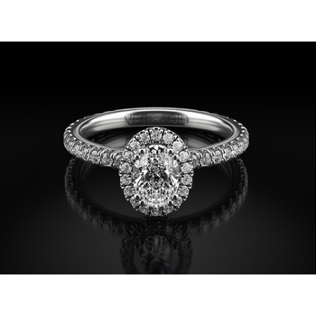 Verragio Tradition White Gold Oval Engagement Ring