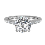 Ritani Clearance Solitaire Diamond Modern French-set Band Engagement Ring