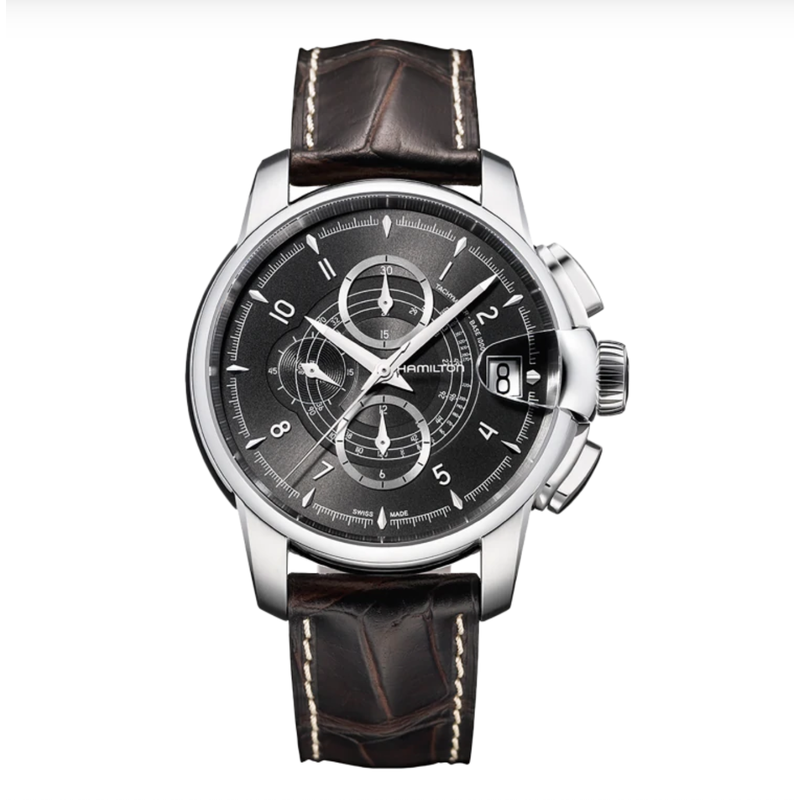 CLEARANCE Hamilton RailRoad Auto Chrono - American Classic 46mm