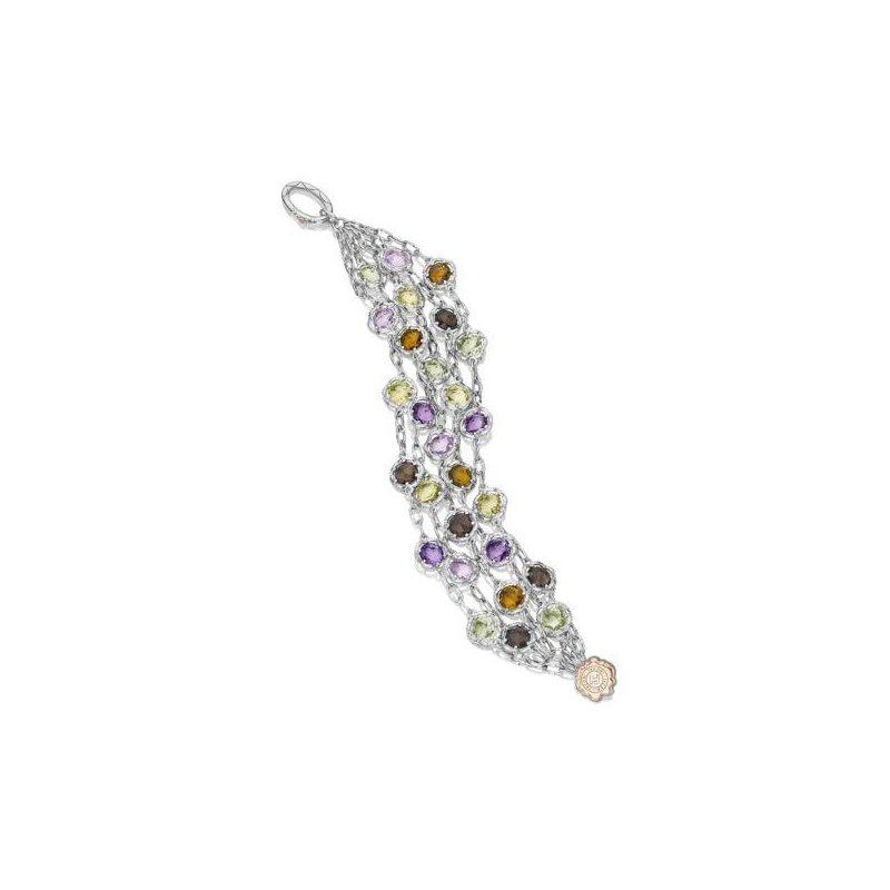 CLEARANCE Tacori Cascading Gem Bracelet featuring Assorted Gemstones