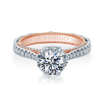 Venetian-5070D-2WR White and Rose Gold Engagement Ring