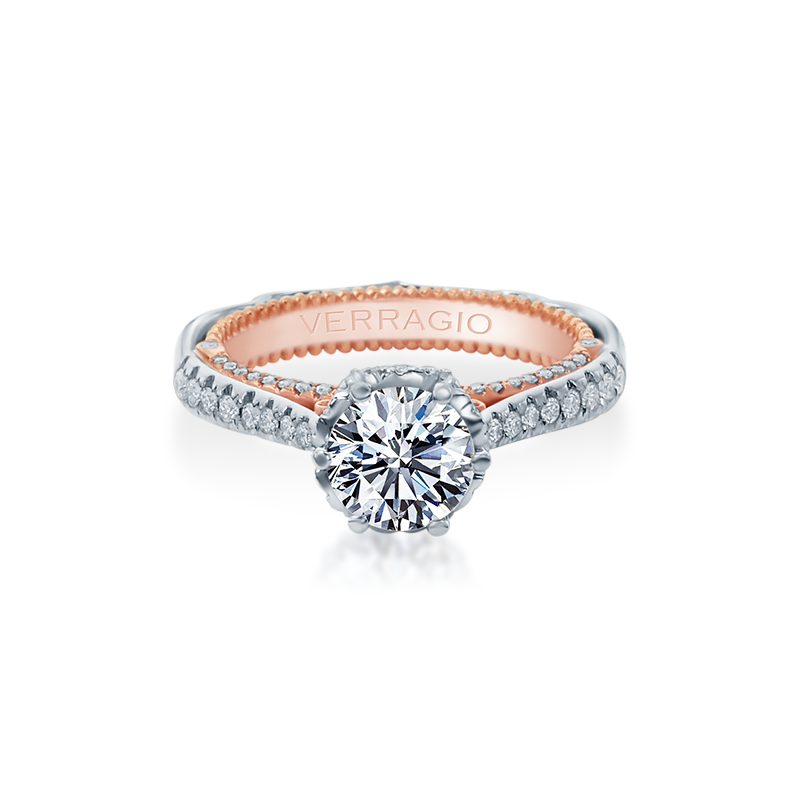 Verragio Venetian-5070D-2WR White and Rose Gold Engagement Ring