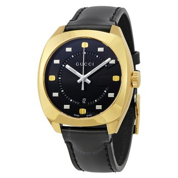 Men's GG2570 Black and Gold Dial Watch