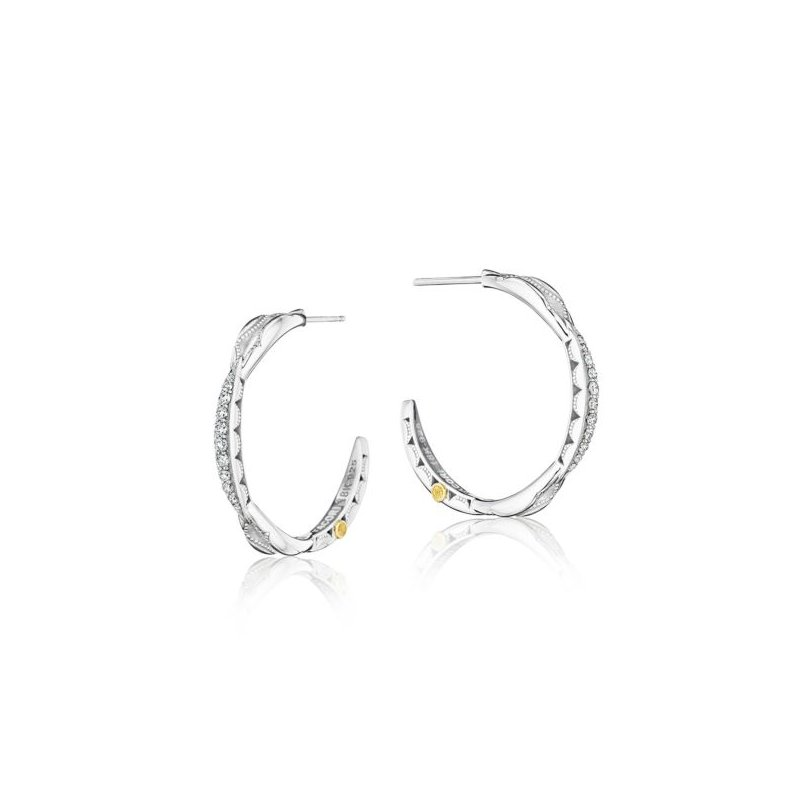 Tacori Petite Crescent Curve Hoop Earrings featuring Diamonds