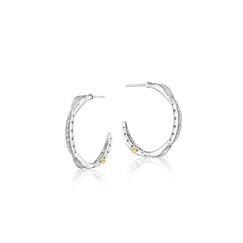 Tacori Tacori Petite Crescent Curve Hoop Earrings featuring Diamonds