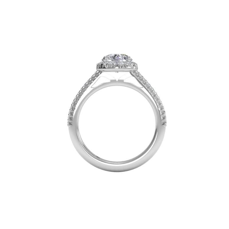 Ritani Clearance Classic French-set Halo Diamond Band Engagement Ring