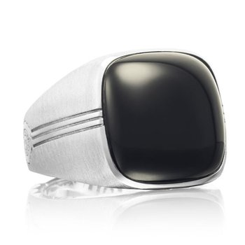 Tacori Cushion Cabochon Ring featuring Black Onyx