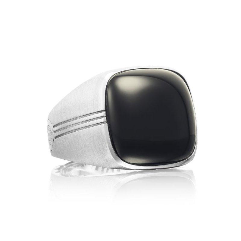 CLEARANCE Tacori Cushion Cabochon Ring featuring Black Onyx