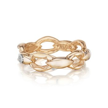 Tacori Crescent Links Ring in Rose Gold