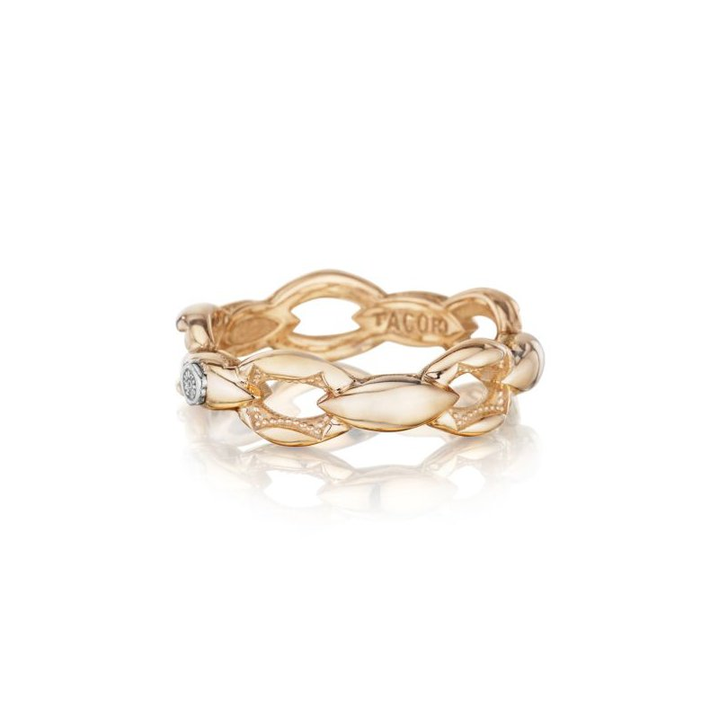 CLEARANCE Tacori Crescent Links Ring in Rose Gold