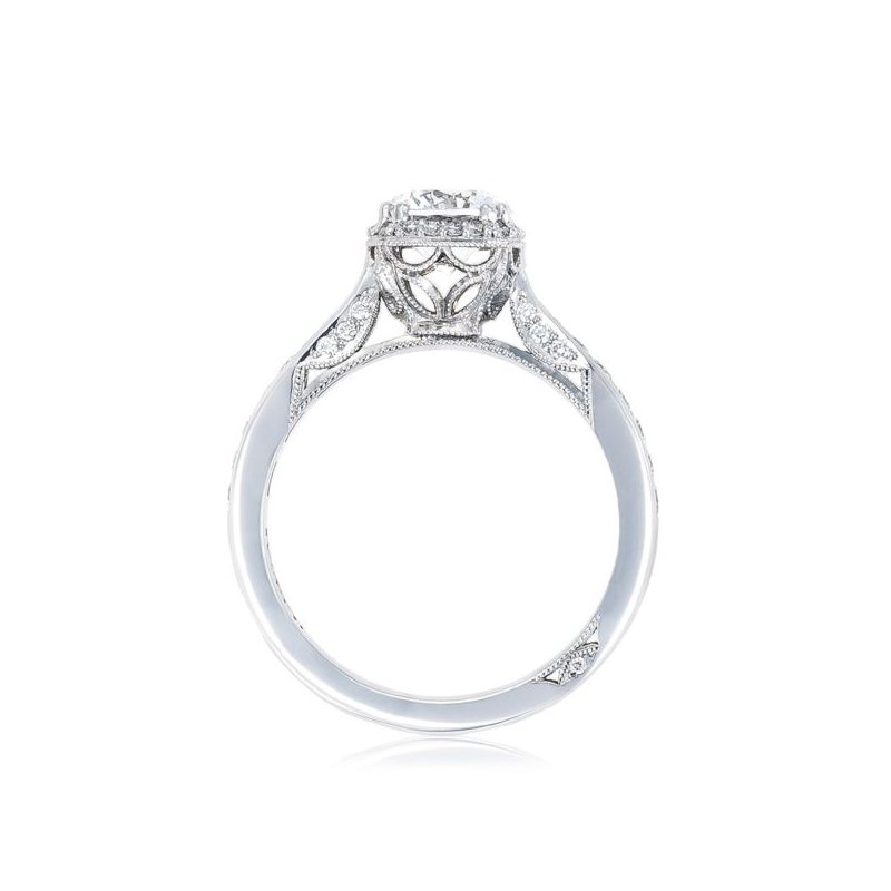 Dantela Cushion Bloom Round Engagement Ring