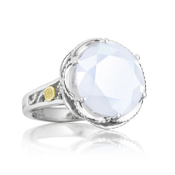 Crescent Gem Ring featuring Chalcedony