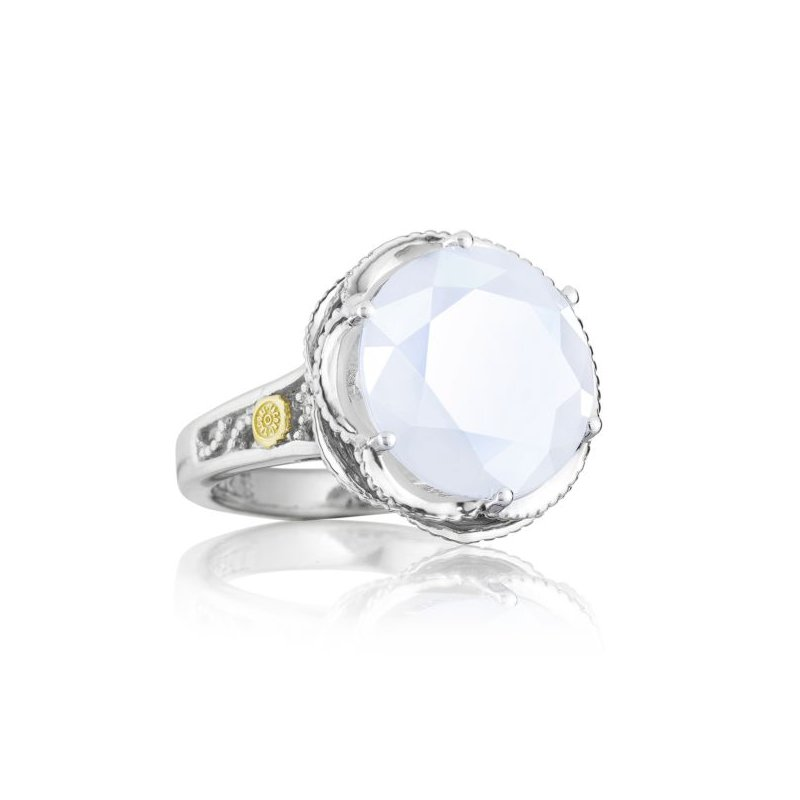 CLEARANCE Tacori Crescent Gem Ring featuring Chalcedony