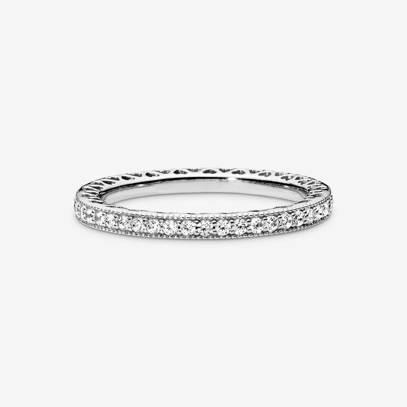 Pandora Sparkle and Hearts Ring
