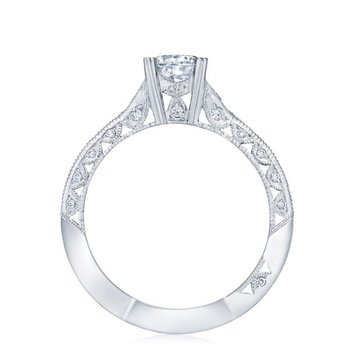 Classic Crescent White Gold Engagement Ring