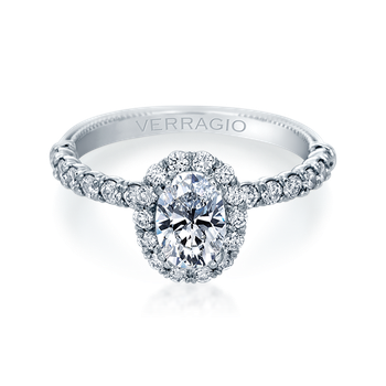Renaissance-954OV18 White Gold Engagement Ring
